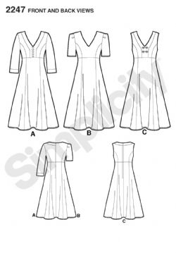 2247 Simplicity Pattern: Misses' & Plus Size Amazing Fit Dresses